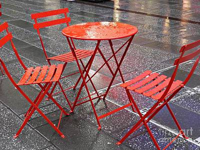 Outdoor Still Life Photograph - Table For Three by Sarah Loft