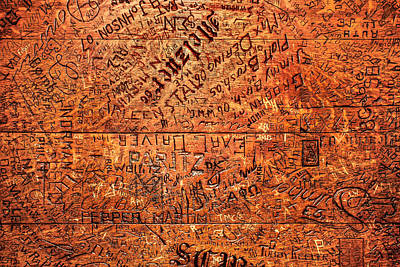 Graffiti Photograph - Table Graffiti by Todd Klassy