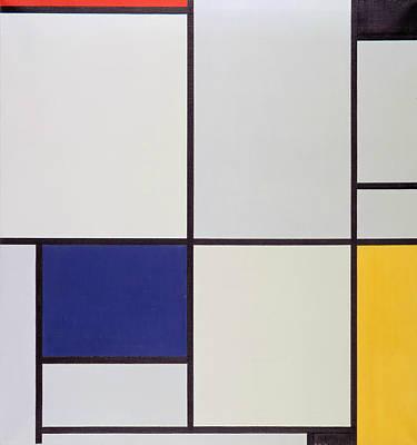De Stijl Painting - Tableau I by Piet Mondrian
