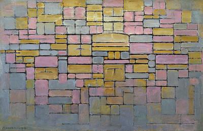De Stijl Painting - Tableau No. 2 / Composition No. V by Piet Mondrian