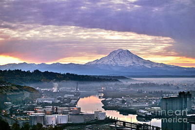 Tacoma Dawn Print by Sean Griffin