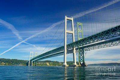 Tacoma Photograph - Tacoma Narrows Bridge by Sean Griffin