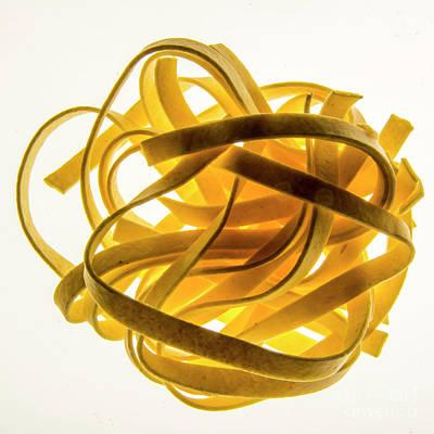 Color Transparency Photograph - Tagliatelle Pasta by Bernard Jaubert