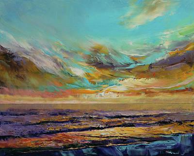 Tahiti Sunset Print by Michael Creese