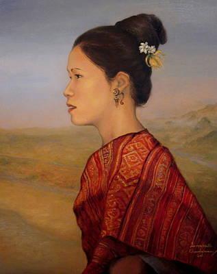 Laos Painting - Tai Viengchan by Sompaseuth Chounlamany