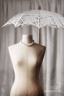 Tailors Dummy With Parasol Print by Amanda Elwell