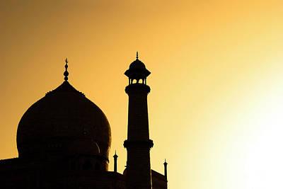 Onion Domes Photograph - Taj Mahal At Sunset by Kokkai Ng