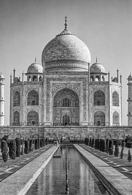Taj Mahal Monochrome Print by Steve Harrington