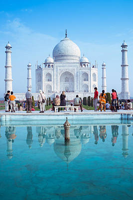 Ancient Architecture Print featuring the photograph Taj Mahal  by Nila Newsom