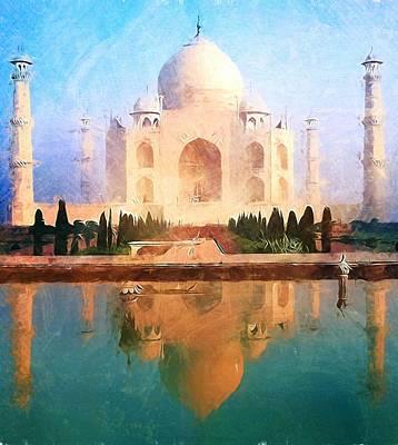 Taj Mahal Reflection Print by Dan Sproul