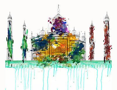 Tomb Mixed Media - Taj Mahal by Solomon Barroa