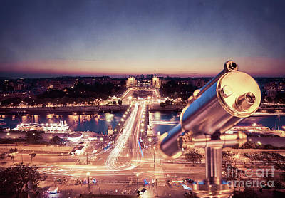Birdseye Photograph - Take A Look At Paris by Hannes Cmarits