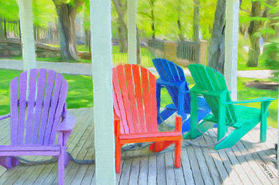 Jeff Digital Art - Take A Seat But Don't Take A Chair by Jeff Kolker