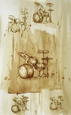 Drum Drawing - Take Five by Pete Maier