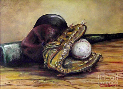 Baseball Cap Painting - Take Me Out To The Ball Game by Deborah Smith
