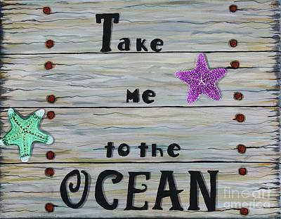 Painting - Take Me To The Ocean by Barbara Griffin