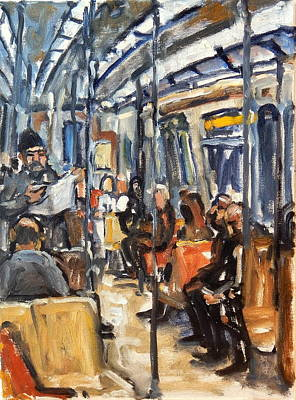 Urban Subway Painting - Take The A Train by Thor Wickstrom