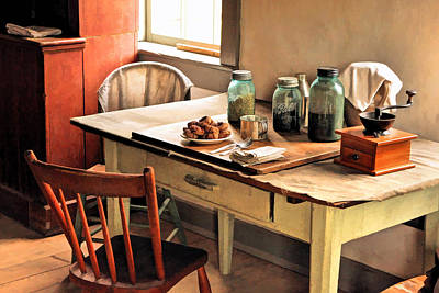 Historic Home Painting - Taking A Break At Old World Wisconsin by Christopher Arndt