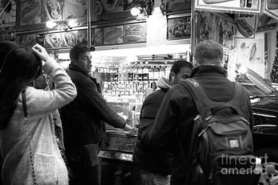 Hot Dog Stands Photograph - Taking Orders In New York City by John Rizzuto