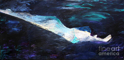 Free Form Painting - Taking The Plunge by Lisa Baack