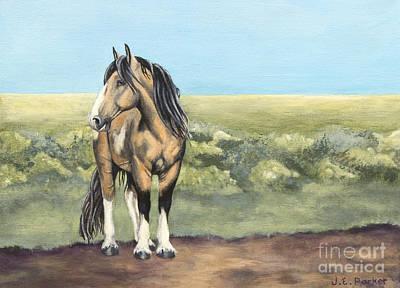 Fauna Painting - Takotda The Wild Mustang Stallion by Jordan Parker