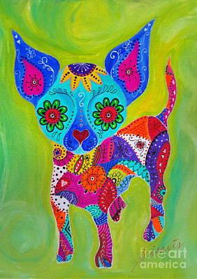 Oaxacan Painting - Talavera Chihuahua by Pristine Cartera Turkus