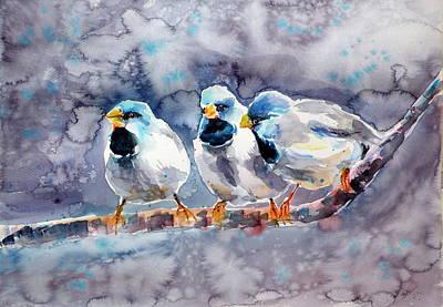 Talking Birds Print by Kovacs Anna Brigitta