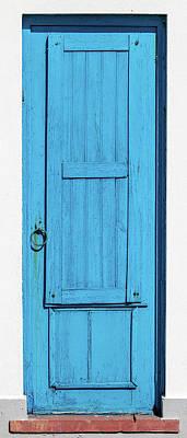 Tall Blue Door Print by David Letts