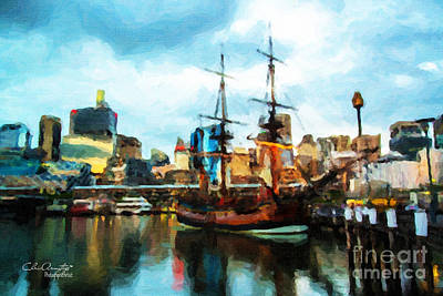 Tall Ship Darling Harbour Print by Chris Armytage