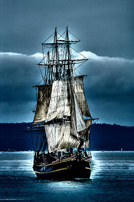 Tall Ships - Hms Bounty Print by David Patterson