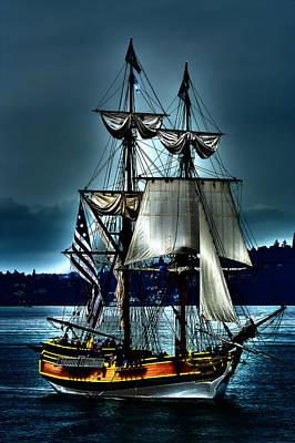 Pirate Ship Digital Art - Tall Ships - Tacoma Washington by David Patterson