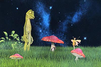Mushroom Digital Art - Tall Tales by Betsy Knapp