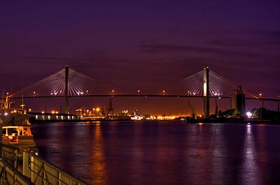 Talmadge Memorial Bridge From River Street Hdr Original by Jason Blalock