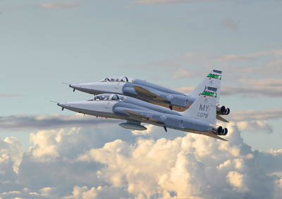 Talon T38 - Supersonic Trainer Print by Pat Speirs