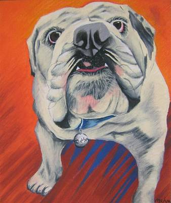 English Bulldog Drawing Pastel - Talullah by Michelle Hayden-Marsan