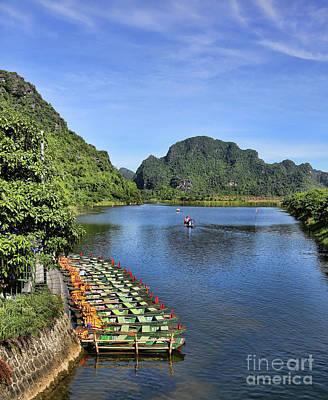 Binh Photograph - Tam Coc 1 by Chuck Kuhn
