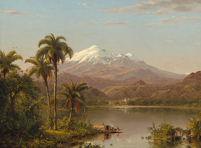 Hill Top Village Painting - Tamaca Palms by Frederic Edwin Church