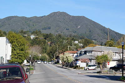 Tamalpais From Mill Valley Print by Ben Upham