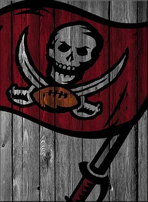 Tampa Bay Buccaneers Wood Fence Print by Joe Hamilton