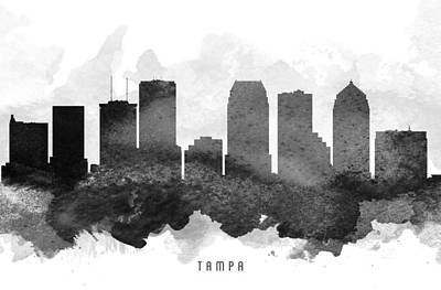 Florida Digital Art - Tampa Cityscape 11 by Aged Pixel