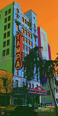 Tampa Theatre Print by Jost Houk