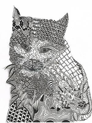 Tangled Cat Print by Dianne Ferrer