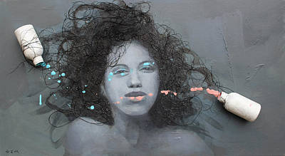 Girls Mixed Media - Tangled by Steve Mitchell