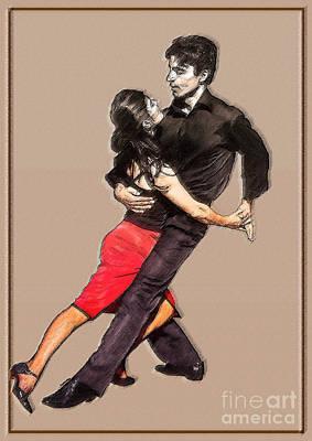 Couple Mixed Media - Tango by Linda  Parker