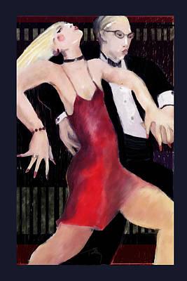 Dining Room Italian Painting - Tango by Thomas Tribby