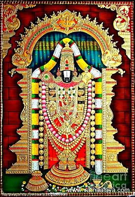 Tanjore Painting -balaji  Print by Rekha Artz