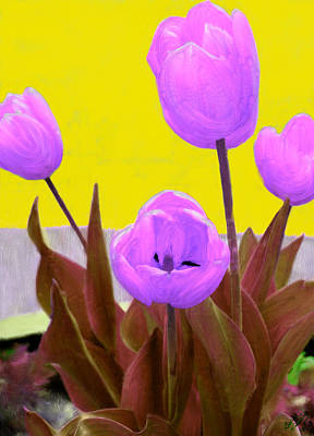 Tulip Painting - Tantalizing Tulips by Bruce Nutting