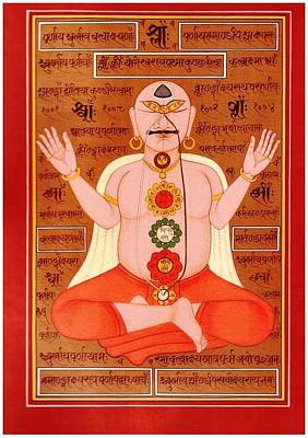 Tantra Painting - Tantra Chakra Mantras by Tantric Baba