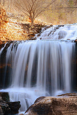Tanyard Creek Waterfall Bella Vista Arkansas Print by Lourry Legarde