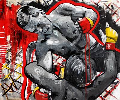 Ufc Painting - Tapout by Angie Wright